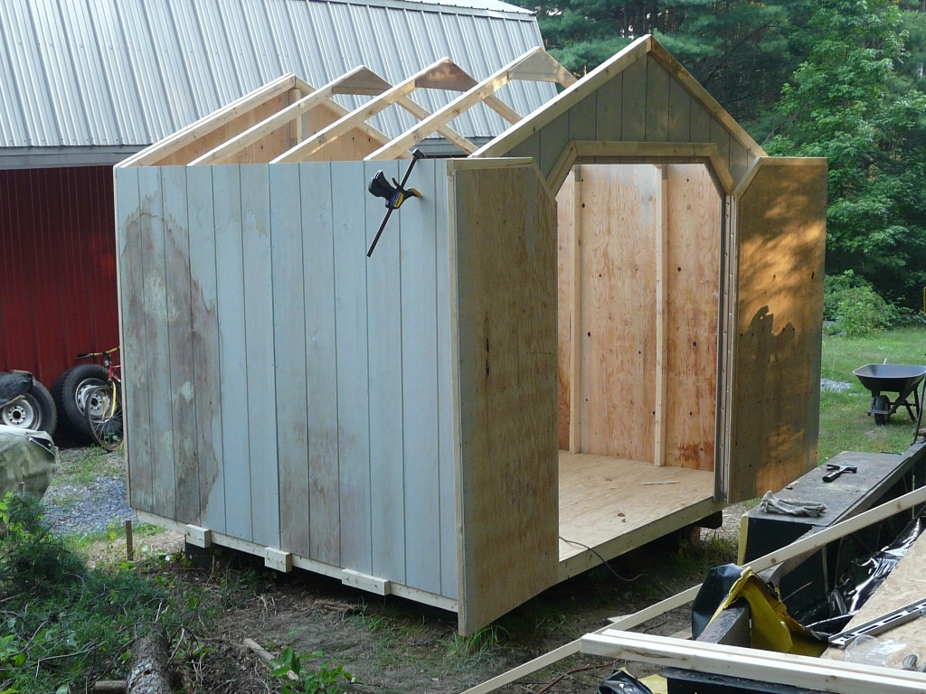 8x8 shed wood